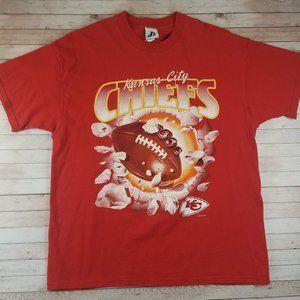VTG 90s Kansas City Chiefs Break Through Tee Shirt